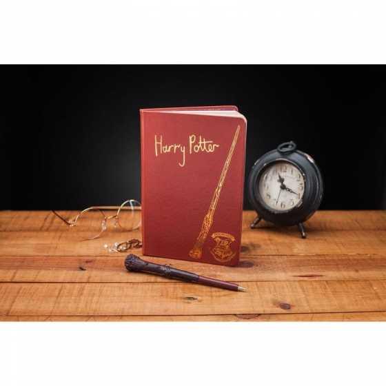 Notizblock und Zauberstab - Harry Potter