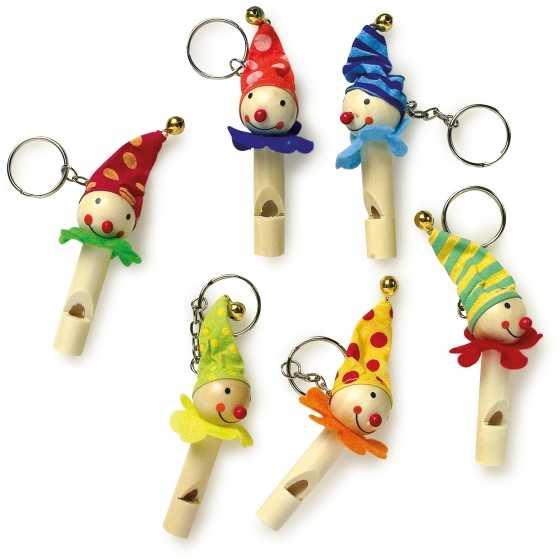 Porte-clés pipeau «Clowns», idée cadeau, anniversaire, noel, enfants, boutique, fribourg, suisse