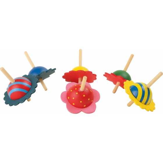 Toupies en bois, idée cadeau, anniversaire, noel, enfants, boutique, fribourg, suisse