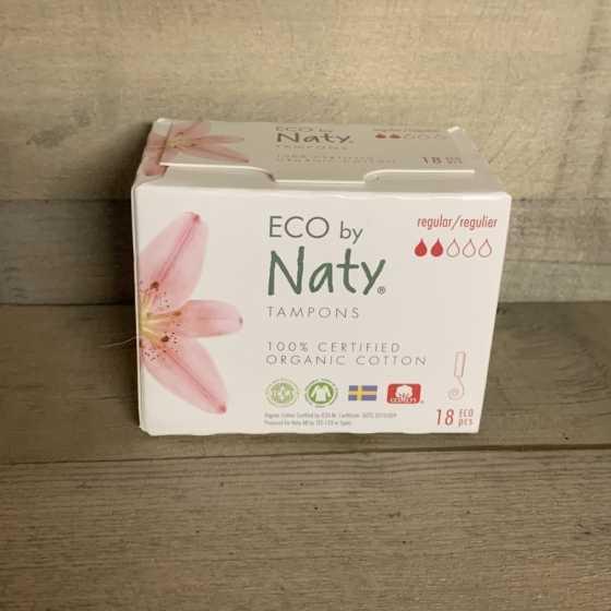 Regular Tampons ohne Applikator 18 Stück - Naty