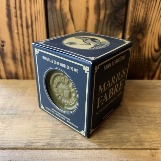 Savon de Marseille VERT Brut 200 g - Marius Fabre