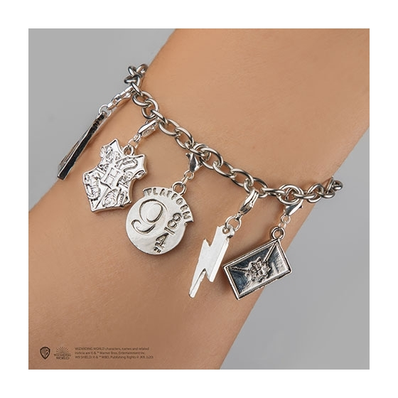 Bracelet à Charms (5 charms) - Harry Potter