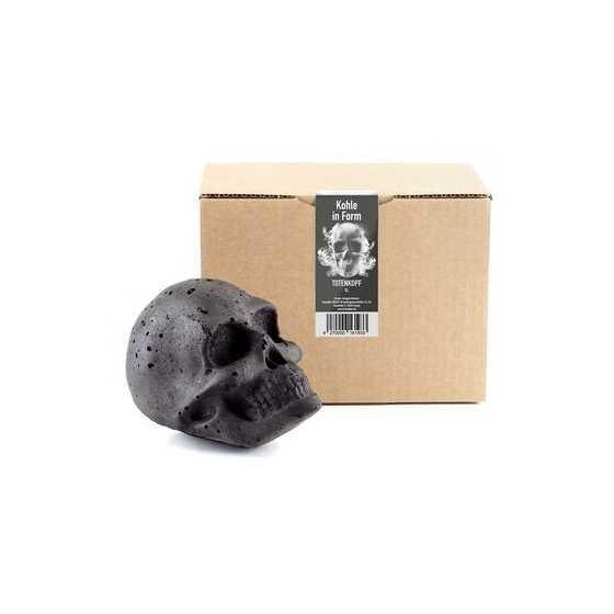 Formkohlen Totenkopf Kohle - XL Kopf Grill-Set schwarz