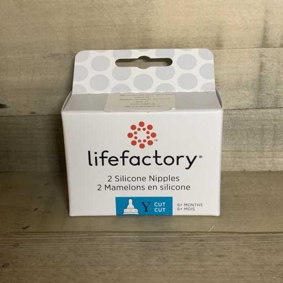Tétine taille Y ( +6 mois) - lot de 2 - Lifefactory, Produits, naturels, écologique, bébé, Fribourg, Suisse