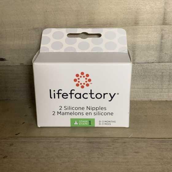 Lifefactory Nippel 2 Pack - Grösse 1 (0-3 Monate) Produkte, natürlich, ökologisch, baby, Freiburg, Schweiz