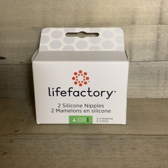 Tétine taille 1 (0-3 mois) - lot de 2 - Lifefactory, Produits, naturels, écologique, bébé, Fribourg, Suisse