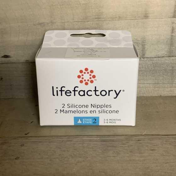 Tétine taille 2 (3-6 mois) - lot de 2 - Lifefactory, Produits, naturels, écologique, bébé, Fribourg, Suisse