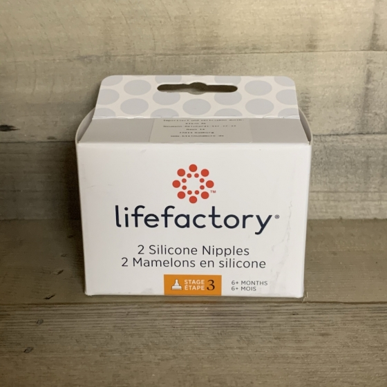 Tétine taille 3 (6-9 mois) - lot de 2 - Lifefactory, Produits, naturels, écologique, bébé, Fribourg, Suisse