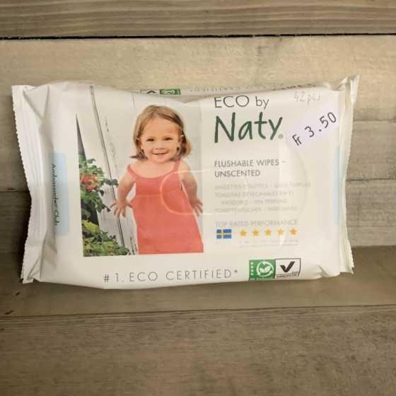 Naty empfindliche Einweg-Tücher in Toiletten