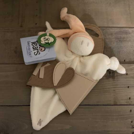 Doudous chiffon bonnet orange - Keptin-Jr, écologique, naturel, Fribourg, Suisse