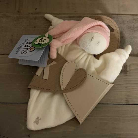 Doudous chiffon bonnet rose - Keptin-Jr, écologique, naturel, Fribourg, Suisse