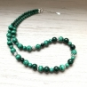 Collier Malachite, creation artisanale, qualité suisse, pierre naturelle
