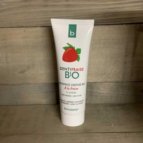 Erdbeer-Zahnpasta Bio-Kind 2-6 Jahre - Bioseptyl