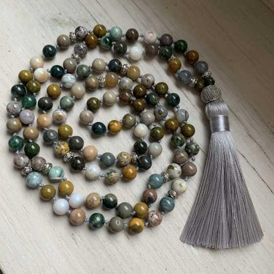 Mala en Jaspe Océan, creation artisanale, qualité suisse, pierre naturelle