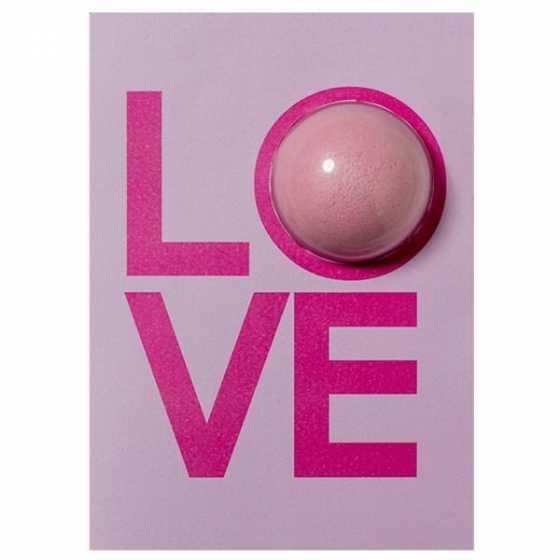 LOVE Badebombenkarte, Geschenk, Valentinstagskarte