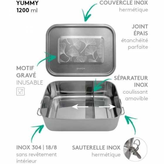 LunchBox Yummy Ginkgo 1200 m - GaspaJOE, Lunchbox, Zero Waste, Freiburg, Shop, Schweiz