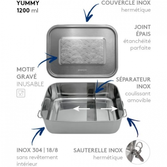 LunchBox Yummy Wellen 1200 m - GaspaJOE, Lunchbox, Zero Waste, Freiburg, Shop, Schweiz