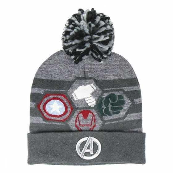 Bonnet pompon Avengers, noir, idée cadeau, anniversaire, enfant, Noël, Boutique, Fribourg, Suisse
