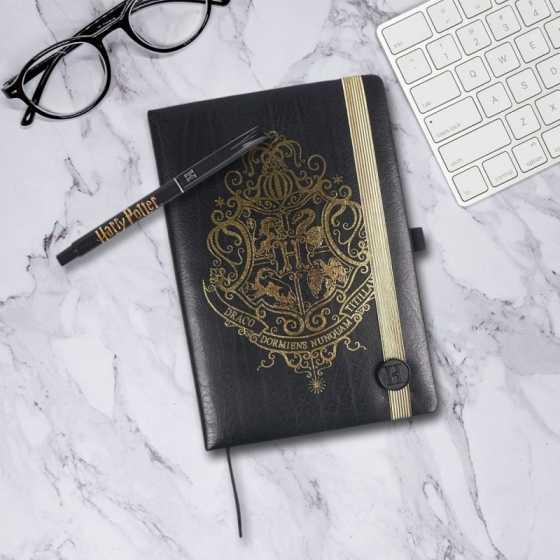 Harry Potter Hogwarts Schreibwaren Set - Notizbuch und Stift