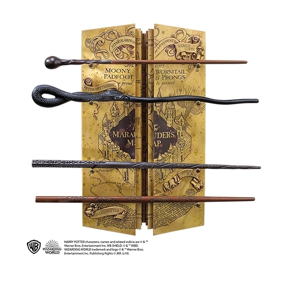 Présentoir 4 baguettes La Carte Du Maraudeur - Harry Potter