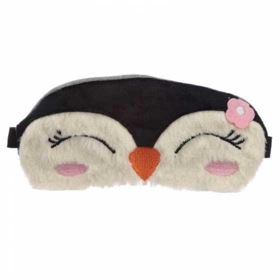 Masque Peluché pour les Yeux - Pingouin
