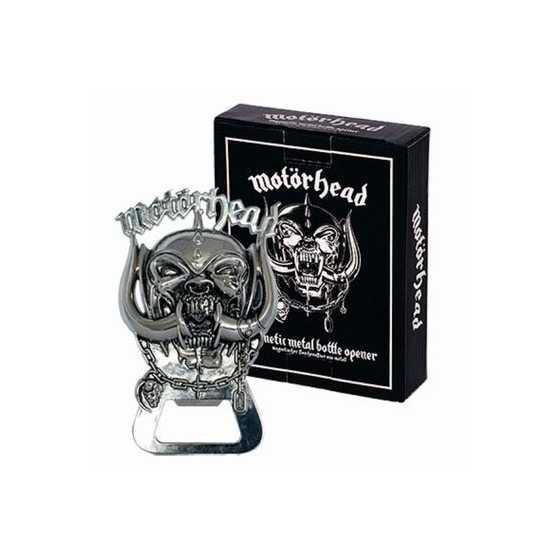 Décapsuleur (magnétique) en métal haute qualité, sous licence officielle 'Motörhead'.