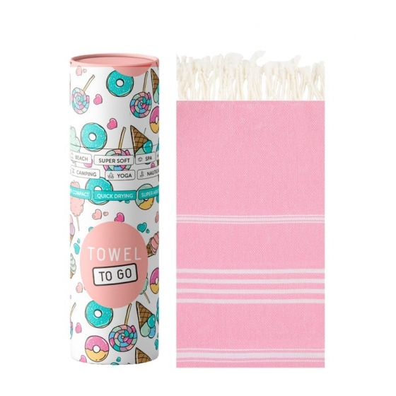 Towel To Go Serviette de Hammam Ipanema Kids Pink