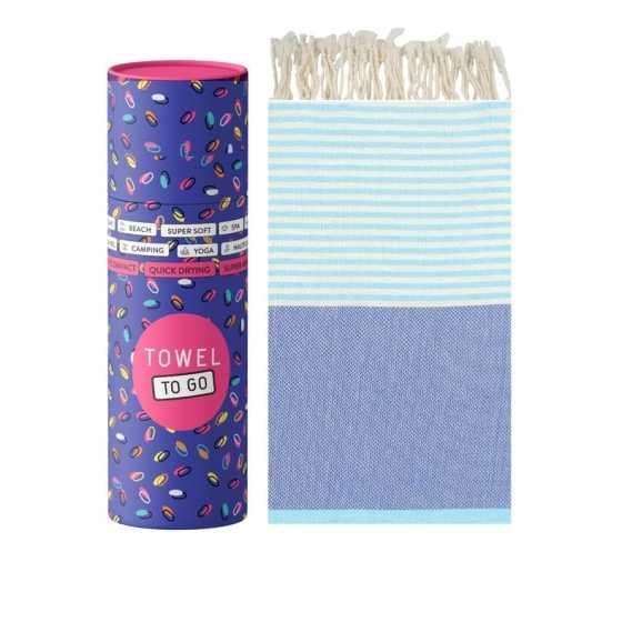 Towel To Go Serviette de Hammam Palermo Bleu/Turquoise