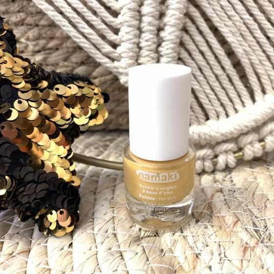 Gold peelbarer Nagellack, Namaki, Naturprodukte, Kosmetik, Kinder, Shop, Fribourg, Schweiz