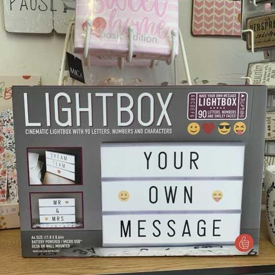 Tableau à Message Lumineux Personnalisable A4