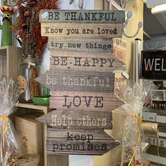 BE THANKFUL dekorative Wandpaneele aus Holz