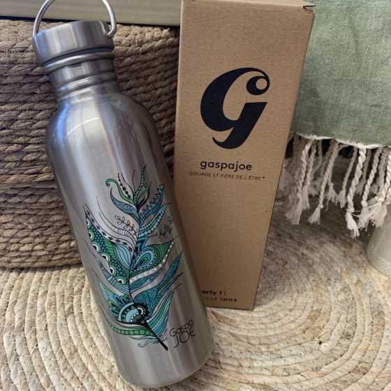 Sporty Feder Grün Flasche - 1L - GaspaJOE