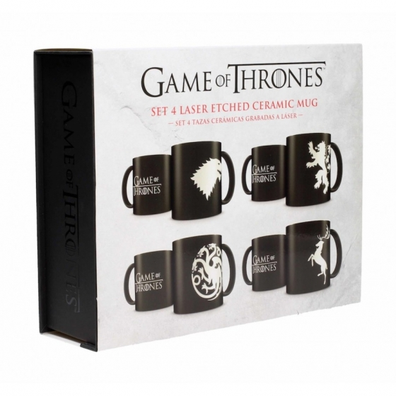 Satz von 4 Tassen - Hauswappen - Game Of Thrones