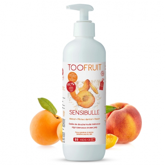Sensibulle Gelée De Douche Abricot-Pêche 400 ml - Toofruit