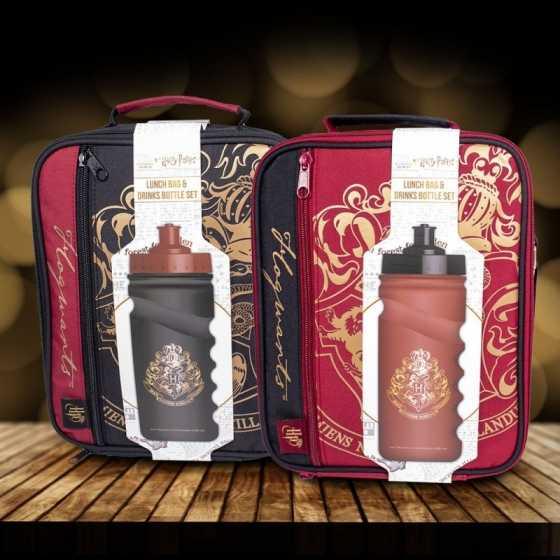 Harry Potter Hogwarts Set - Lunchtasche und Trinkflasche