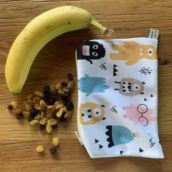 Pochette à snacks, tissu alimentaire imperméable, Fabrication artisanale, suisse