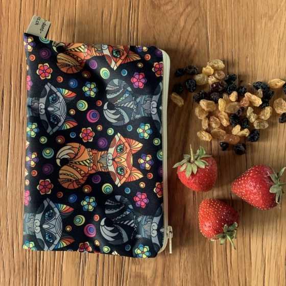 Snack-Tasche, wasserdicht, lebensmittelechtem Stoff, Handgemacht, Schweiz