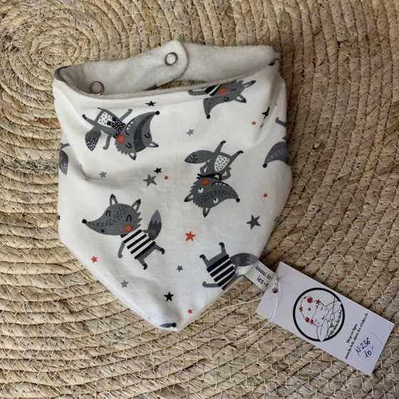 Baby-Lätzchen aus Bio-Jersey-Baumwolle, handgemachte Nähkreation, Geburtsgeschenk, Schweiz
