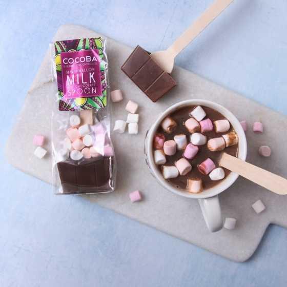 Marshmallow Milk Hot Chocolate Spoon, cuillère chocolat chaud