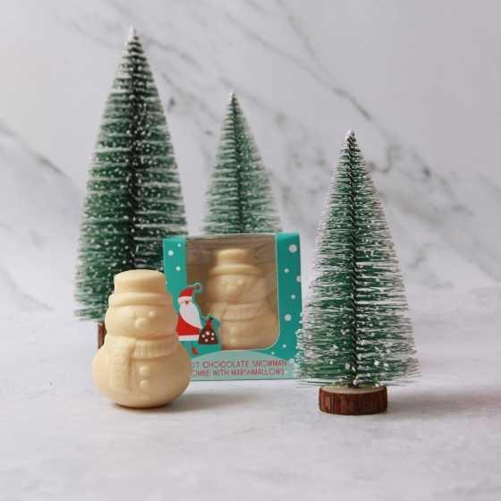Christmas Snowman Hot Chocolate Bombe with Mini Marshmallows
