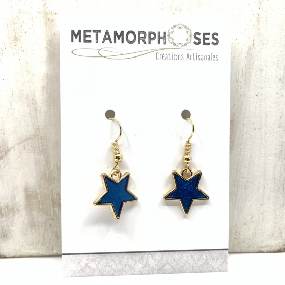 "Boucles ""Blue Star"""