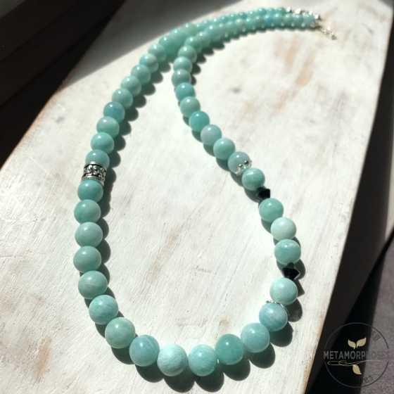 Russische Amazonit-Halskette