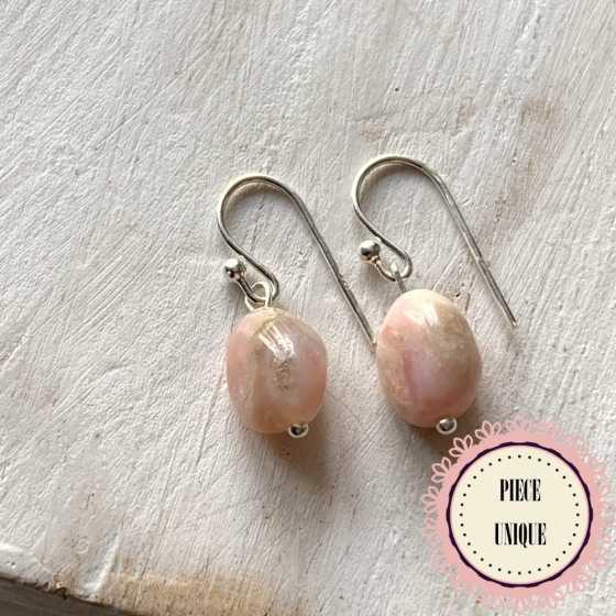 Boucles Opale rose