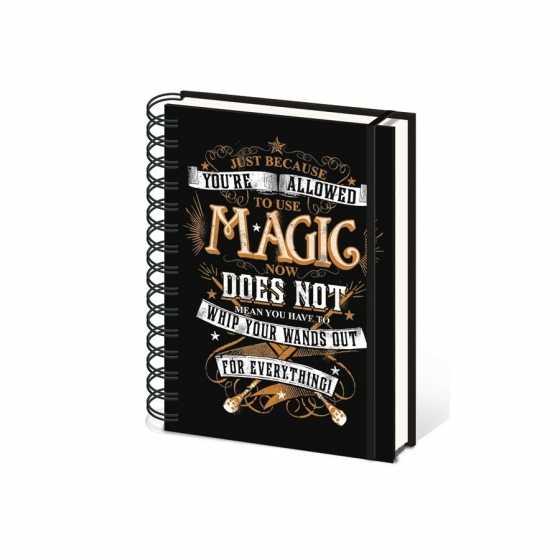 CARNET DE NOTES SPIRALES - HARRY POTTER - MAGIC