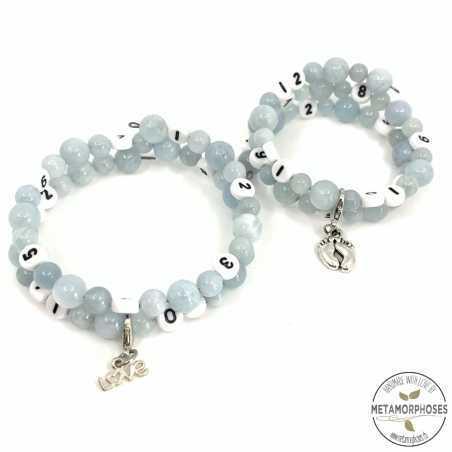 "Bracelet ""Memory"" Aigue-marine"
