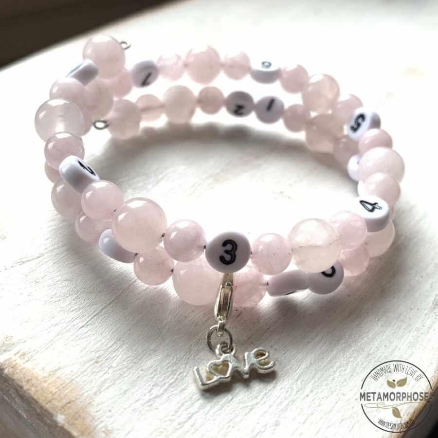 "Bracelet ""Memory"" Quartz rose"