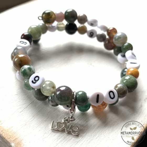"""Bracelet """"Memory"""" Agate Indienne"""