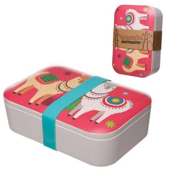 Llamapalooza Lama wiederverwendbare Lunchbox aus Bambus-Verbundsstoff