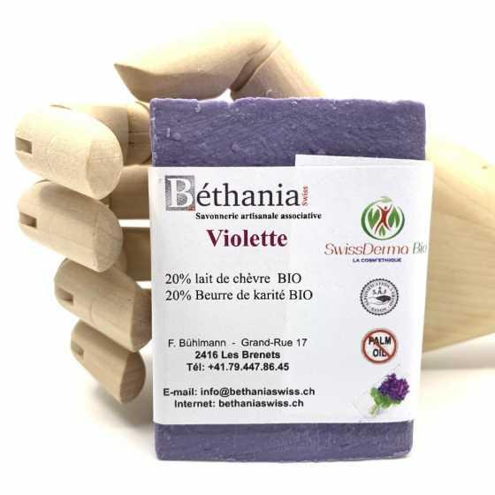 Savon Violette, savonnette naturelle bio