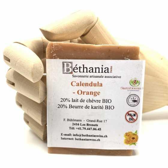 Savon Calendula-orange, savonnette naturelle bio